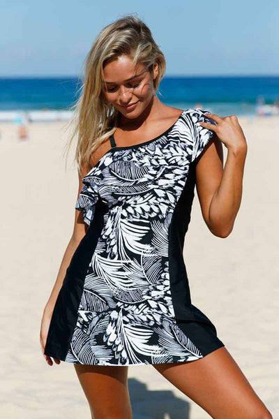Ellady Jungle Single Shoulder 1pc Swim Dress