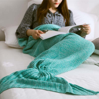 Ellady Christmas Gift Knitted Mermaid Tail Blanket