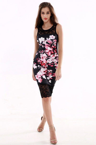 Ellady Floral World Lace Bodycon Dress