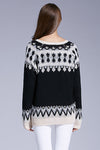 Ellady Geometric Pattern Drop Shoulder Sweater