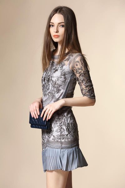 Ellady Perfection Perceived Lace Embroidered Dress