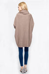 Ellady Solid Color Cowl Neck Casual Sweater