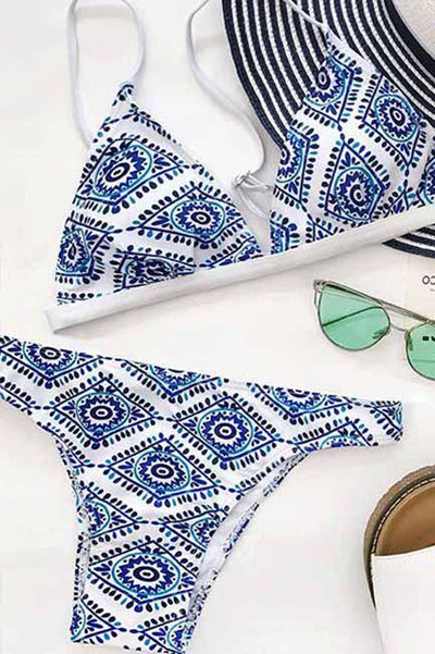 Ellady Unique Print Triangle Swimsuit