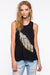Ellady Golden Feather Print Sleeveless Top