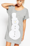 Ellady Fashion Snowman Loose Grey Shirt Dress