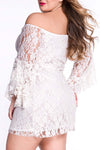 Ellady Just For Tonight Flare Sleeve Lace Dress