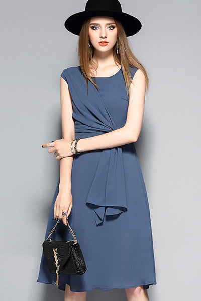 Love You Now Plain Silk Dress