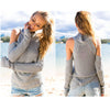 Ellady Cold Shoulder High Neck Knit Sweater