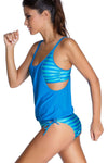 Ellady Layered Striped Tankini with Briefs