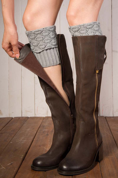 Ellady Cable Ribbed Knit Short Boot Cuffs