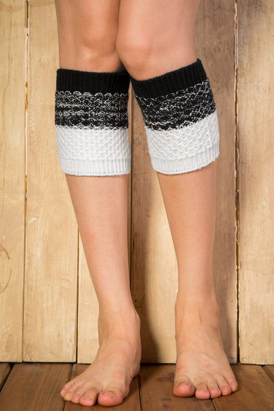 Ellady Black&White Short Crochet Boot Cuffs Pattern