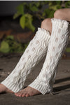 Ellady White Lace Trim and Button Boot Cuffs
