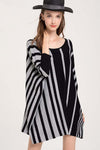 Ellady Batswing Sleeve Casual Striped Knitwear