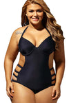 Ellady Black Underwired Plus Size Swimming Suit