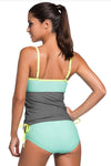 Ellady Colorblock 2pcs Tankini Swimsuit