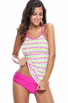 Ellady Colorful Polka Dot Rosy 2pcs Tankini