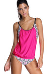 Ellady Cute Layered Printed Tankini