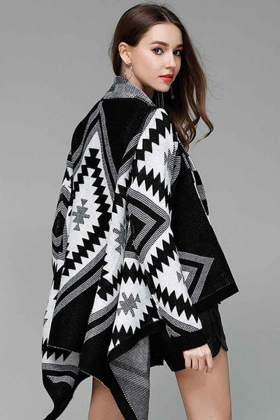 Ellady Geometric Lapel Long Sleeve Loose Cardigan
