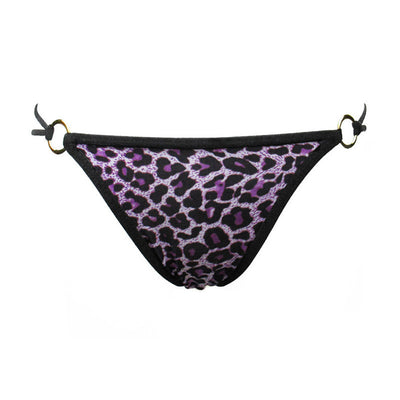 Ellady Leopard Hollow Out G-string With Metal Buckle