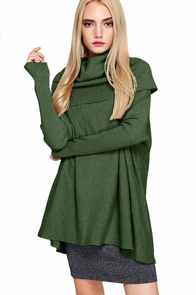 Ellady Long Sleeve Cowl Neck Oversize Knit Sweater