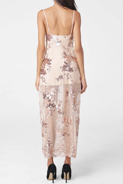 Ellady Maxi Slip Dress With Sequins