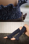Ellady Navy Blue Mixed Color Long Boot Cuffs