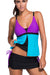 Ellady Plus Size Contrast Color Tankini