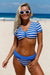Ellady Short Sleeve Crop Top Tankini Set