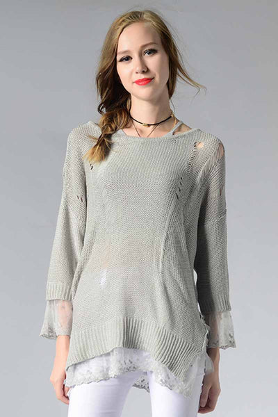 Ellady So Relaxing Ripped Detail Knitwear