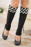 Ellady Black Winter Leg Warmers Knit Boot Cuffs