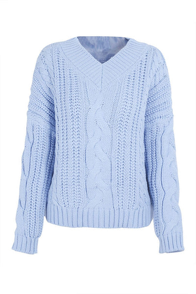Oversized Knitting Pullover Long Sleeve Sweater
