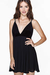 Ellady Velvet Splicing V-neck Cross Back Nightclub Chiffon Dress