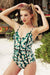 Young Lady Floral Print One-piece  Swimsuit