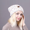 Blended Knitted Female Skullies Hat
