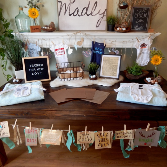 How to Host a Baby Shower Onesie Bar with Heat Transfer Vinyl!