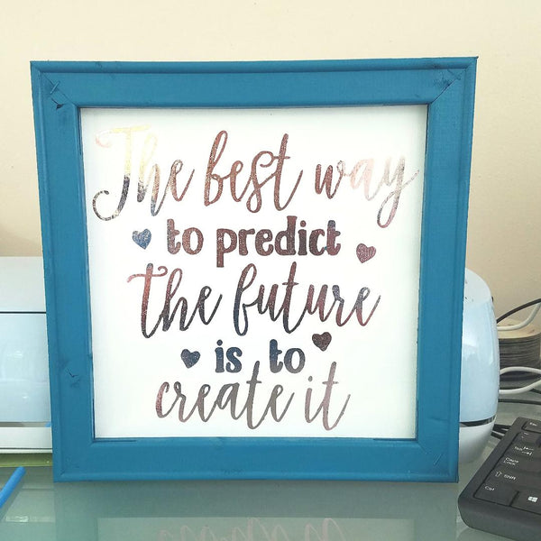 Heat transfer vinyl canvas frame project