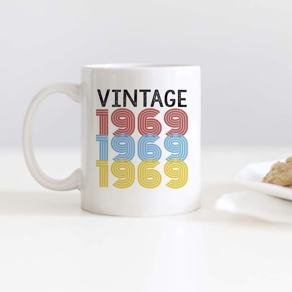 50th Birthday Gift - Retro Style Vintage 1969 Coffee Mug