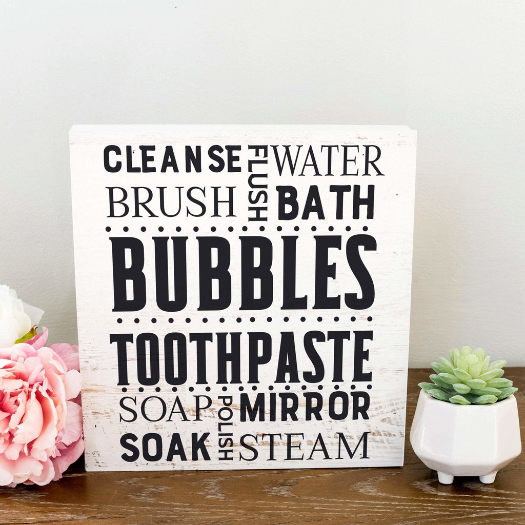 Bathroom Sign, Bathroom Subway Art, Bath Rustic Wall Decor