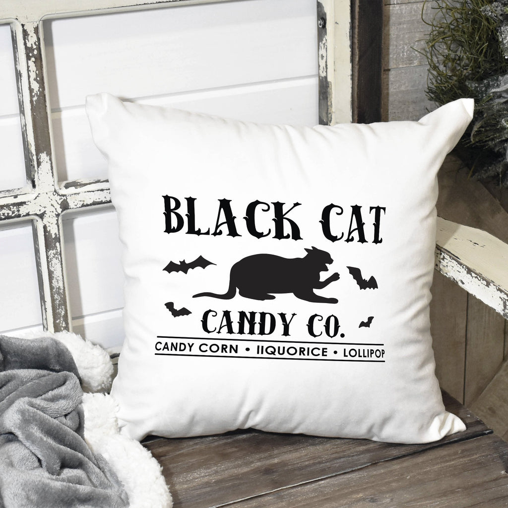 Black Cat Halloween Throw Pillow - Fall Decor - Halloween Pillow
