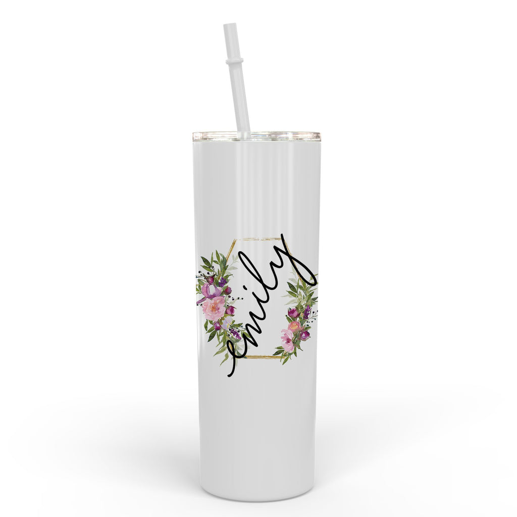 Bridesmaid Tumbler, bachelorette tumbler, personalized tumbler, skinny tumbler with straw,