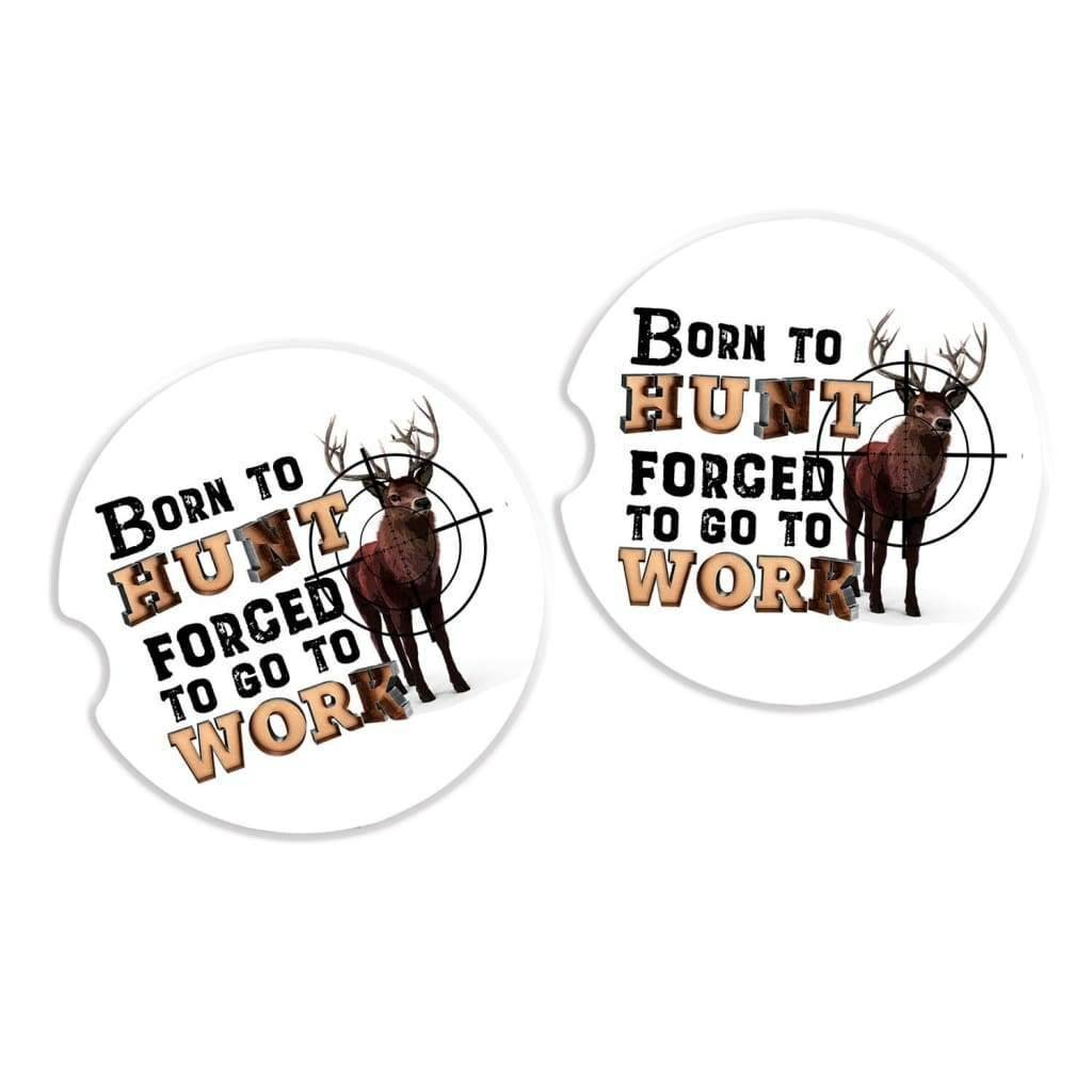 Car Coasters for Men - Deer Hunting Gift - Sandstone Truck Drink Coasters