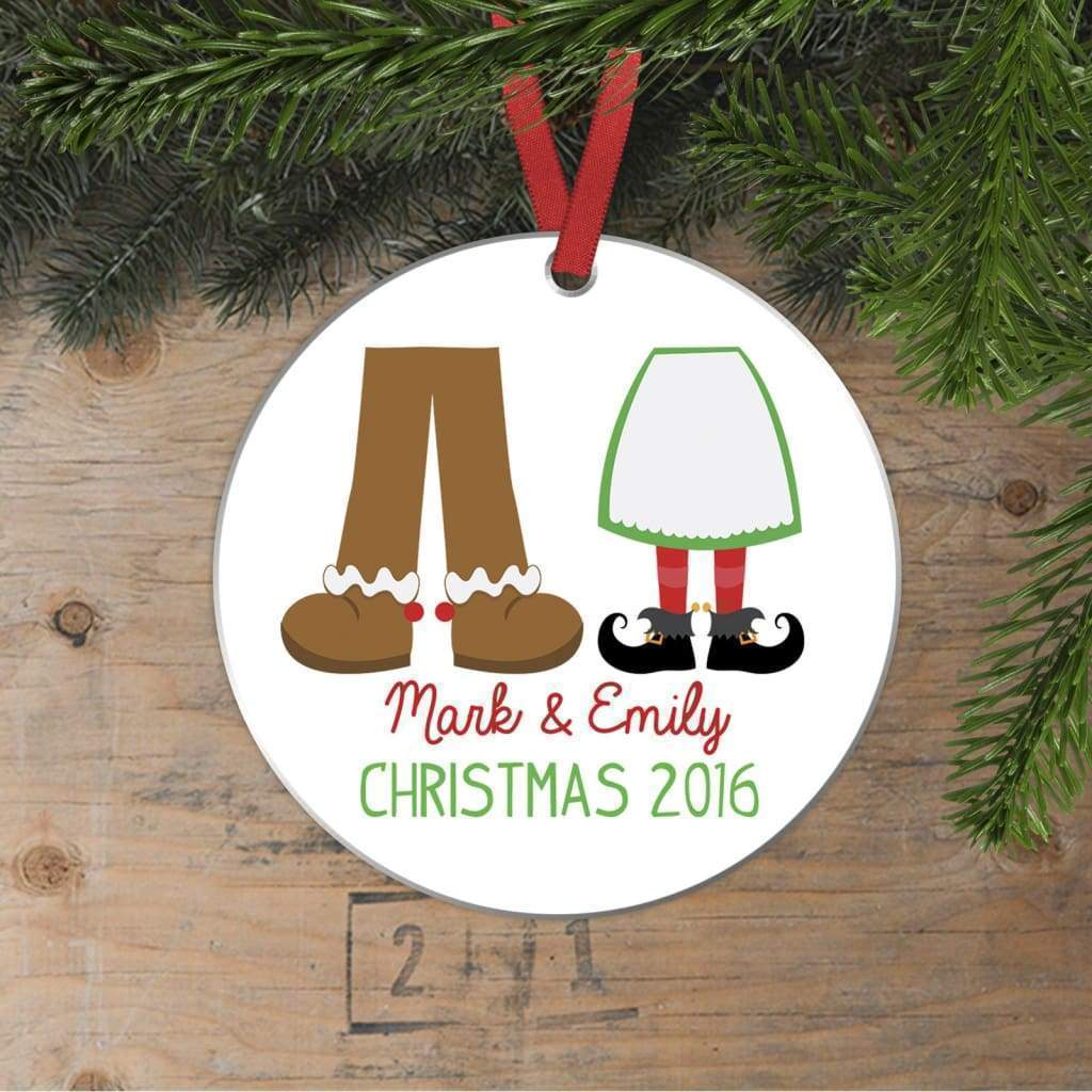 Couples Ornament - Custom Christmas Ornament - Couples Gift