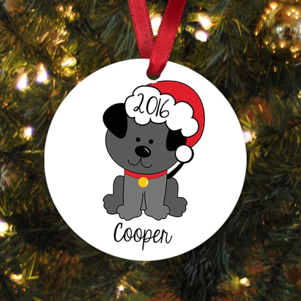 Dog Christmas Ornament - Personalized Christmas Ornament New Dog Gift