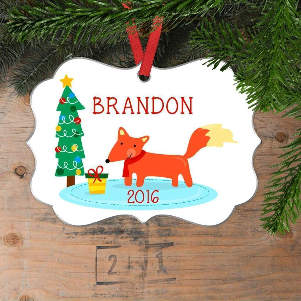 Fox Christmas Ornament - Personalized Christmas Ornament