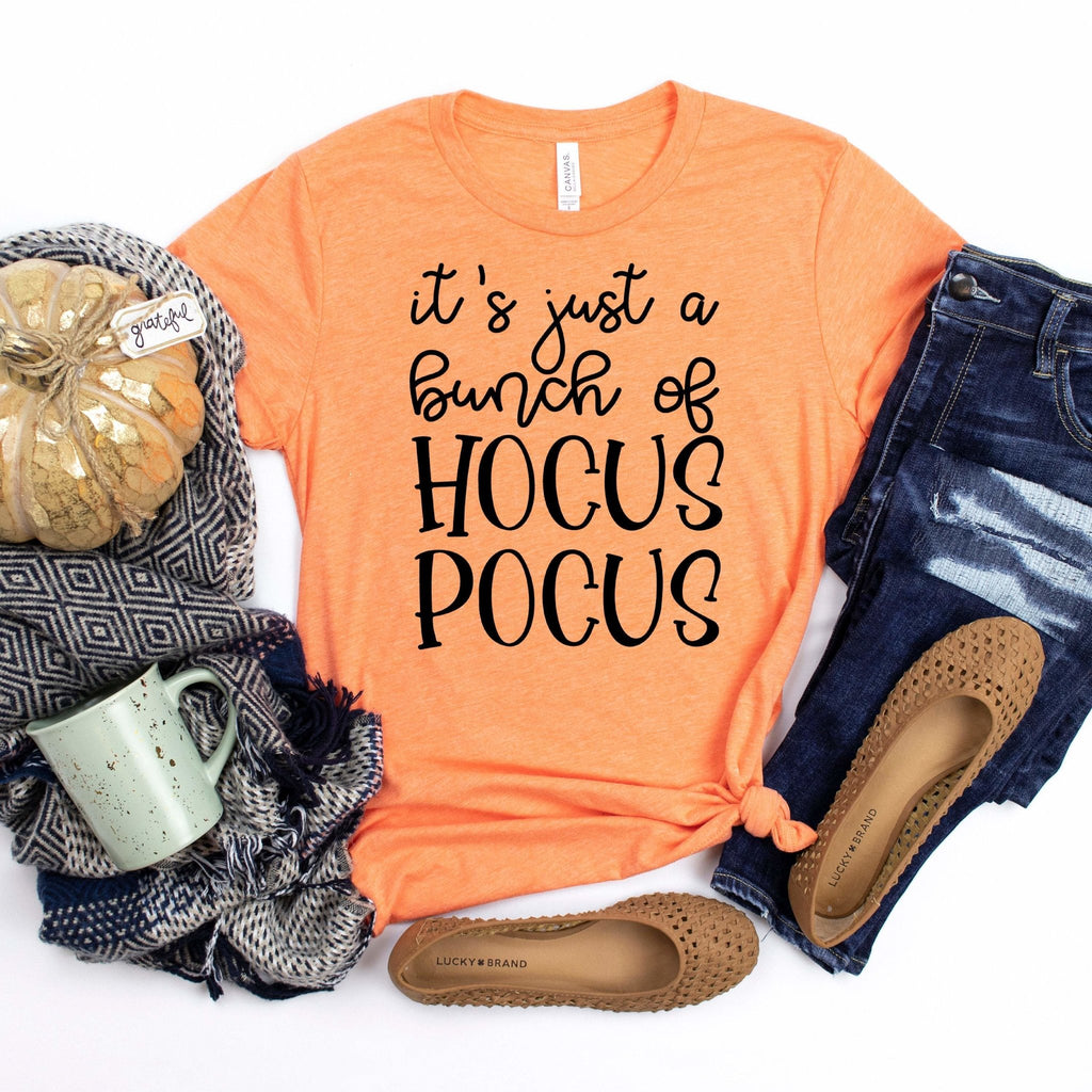 Hocus Pocus Tshirt, Short Sleeve It's Just a Bunch of Hocus Pocus Womens Shirt, Halloween Clothing