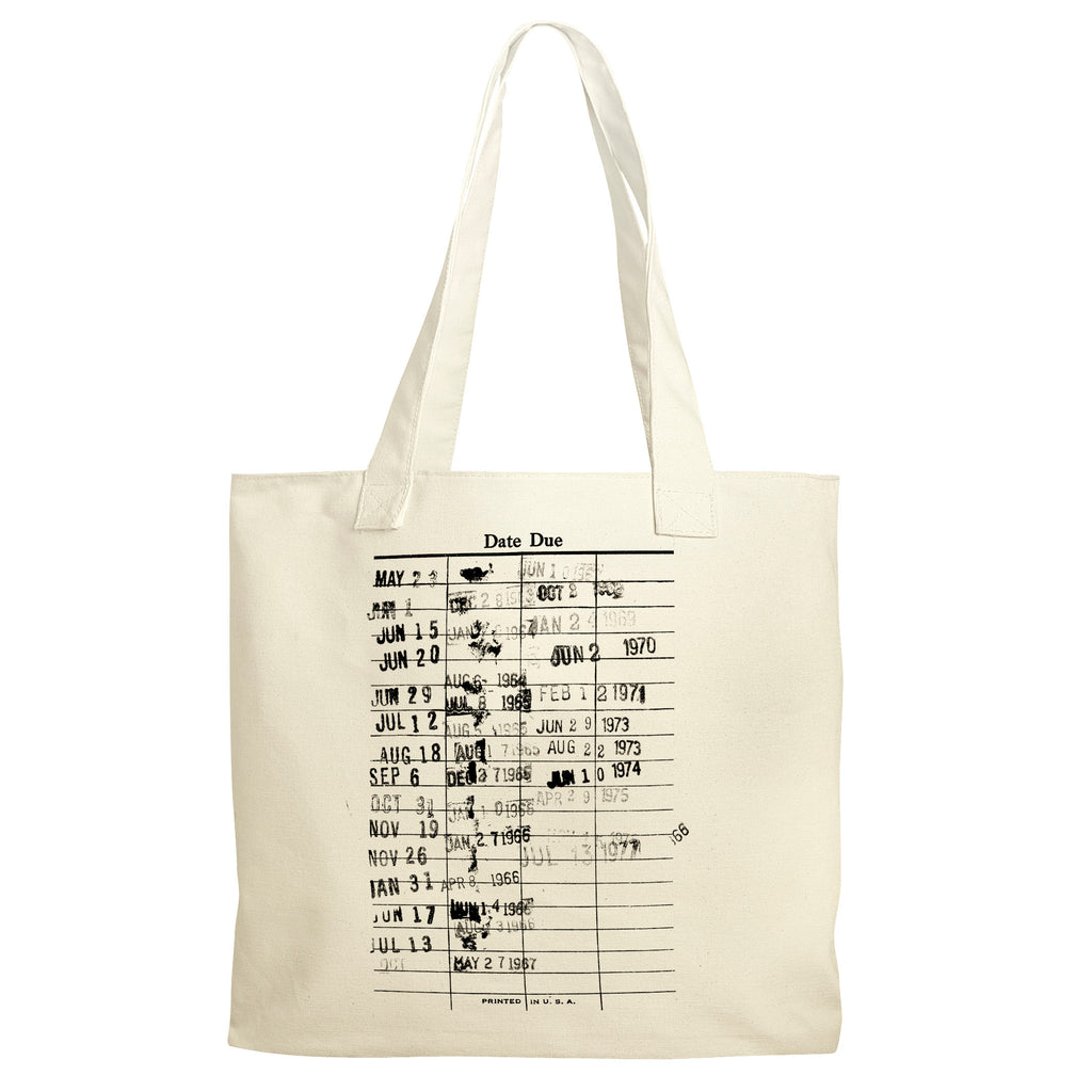 Library Canvas Tote Bag - Reusable Grocery Bag for Book Lover - Literary Tote