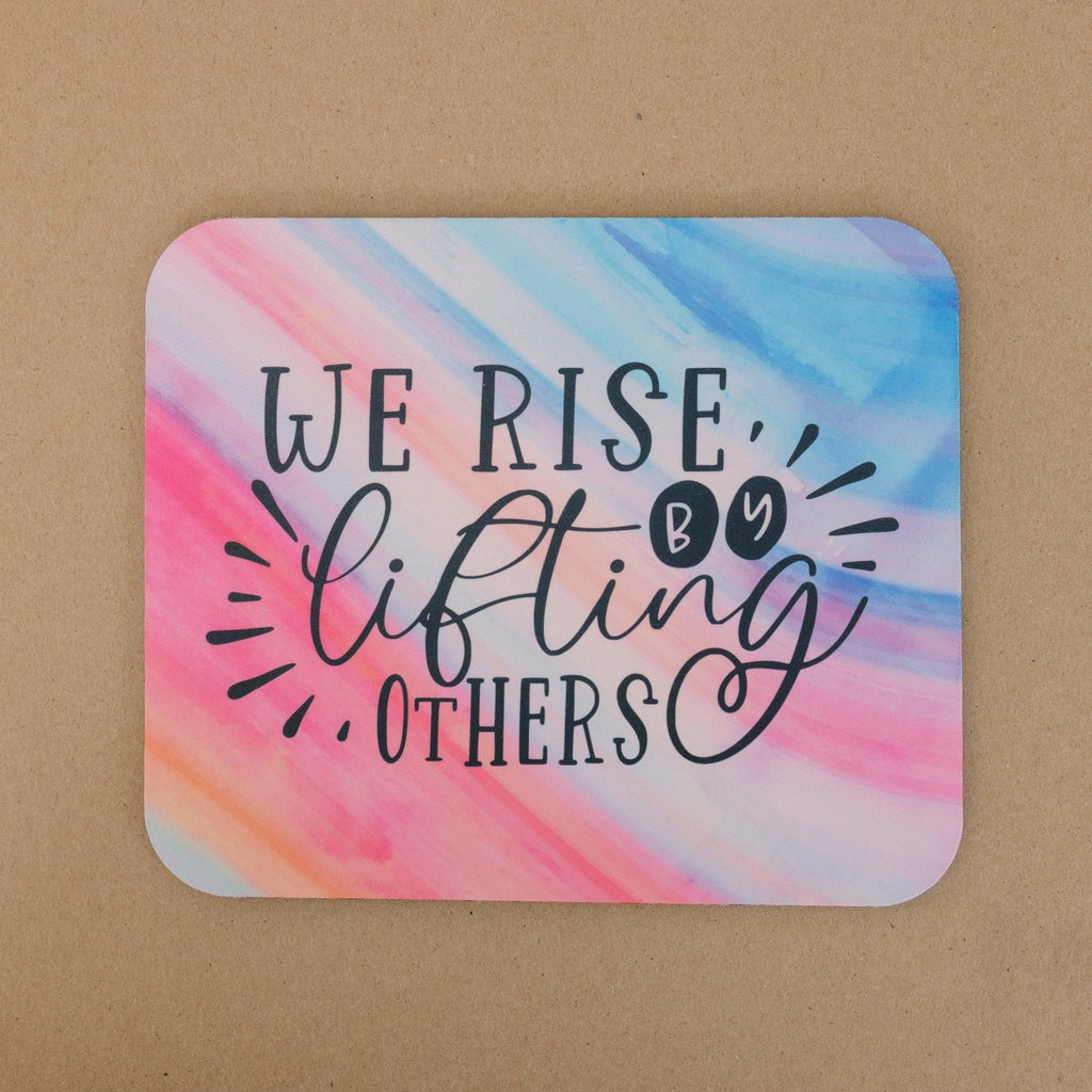 Inspirational mousepad, mousepad cute, Pastel Ombre Mouse Pad for Girl, Colorful Motivational Quote Desk Office Accessory, Co worker gift