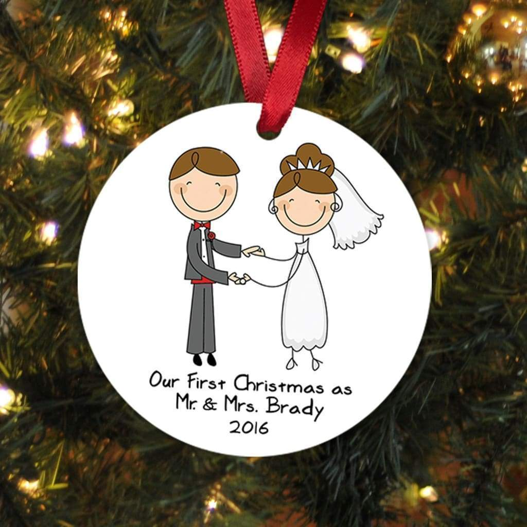 Our First Christmas Ornament - Personalized Wedding Gift