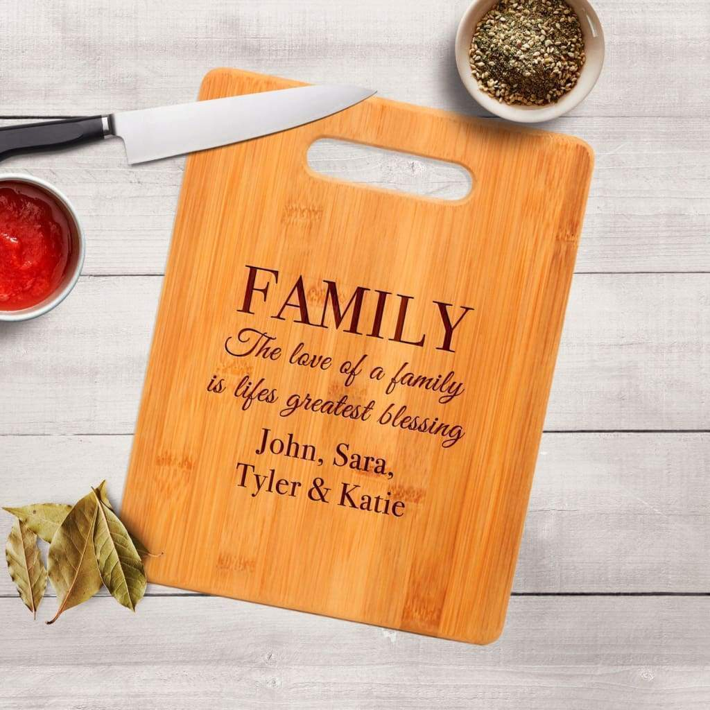 Personalized Family Engraved Cutting Board