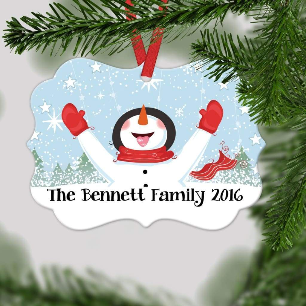 Personalized Snowman Christmas Ornament - Family Christmas Gift